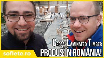 CLT fabricat în România! Tur de fabrică CLT și grinzi încleiate din lemn