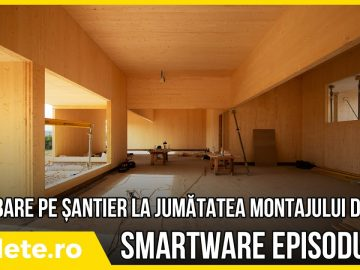 SmartWare – plimbare pe șantier la jumătatea montajului de CLT – ep #4