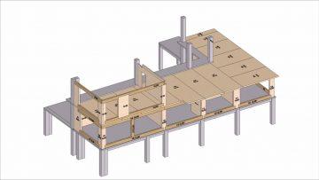 Structura CLT Suceava etape montaj