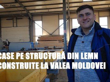 Producător de case pe structuri prefabricate din lemn la Valea Moldovei