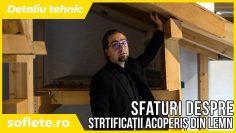 Un detaliu tehnic: stratificații și etanșare acoperiș cu structură lemn