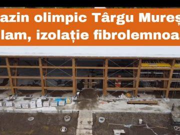 Bazinul olimpic Târgu Mureș din glulam