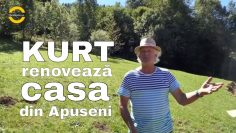 În Apuseni, la Vișagu,  Kurt renovează și construiește tradițional