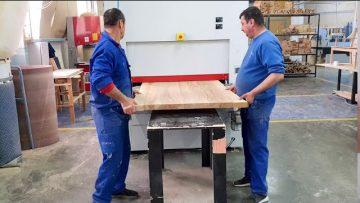 Presa Rotativa pentru Panouri si Masina de Slefuit si  Calibrat | Wood IQ