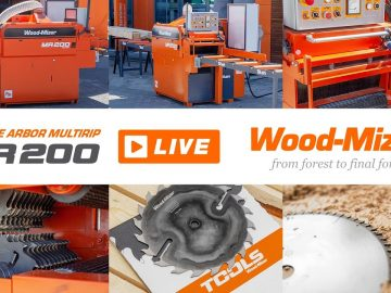 Wood-Mizer LIVE | MR200 Double Arbor and Wood-Mizer Tools Demonstration | Wood-Mizer Europe