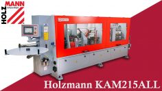 🔴 Prezentare Mașină de aplicat cant cu prefrezare și rotunjire colțuri – Holzmann KAM215ALL